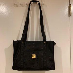 MCM long tote canvas bag